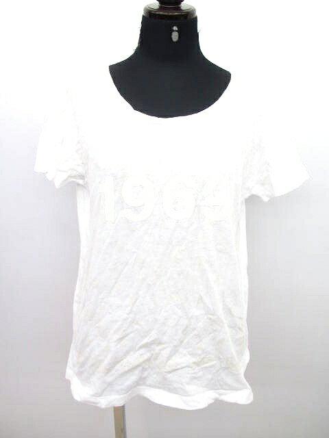 ギャップ GAP プリント Tシャツ カットソー 半袖 白 レディース XXS/k42 レディース 【中古】【ベクトル 古着】 180312 ベクトル マークスラッシュ