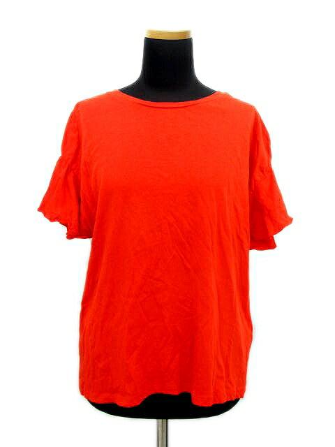 ザラ ZARA TRAFALUC Tシャツ カットソー 袖フレア 無地 丸首 半袖 赤 レディース/A177 レディース 【中古】【ベクトル 古着】 180623 ベクトル マークスラッシュ