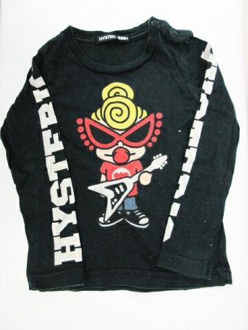 ヒステリックミニ Hysteric MINI Tシャツ カットソー トップス ロンT 長袖 プリント 黒 ブラック サイズ80 メンズ レディース 【中古】【ベクトル 古着】 180701 ベクトル マークスラッシュ