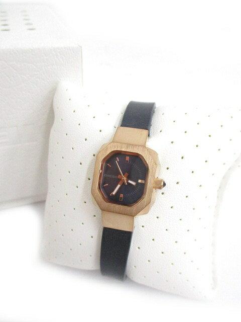 ディーゼル DIESEL レザー 腕時計 ウォッチ クウォーツ DZ5523 黒 ブラック レディース/r レディース 【中古】【ベクトル 古着】 180107 ベクトル マークスラッシュ
