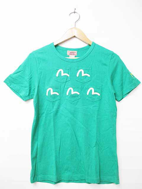エヴィスドンナ EVISU DONNA フロント 5ポケットTシャツ 緑グリーン ブランド古着ベクトル 中古●180321 0005 レディース 【中古】【ベクトル 古着】 180321 プリマベーラ