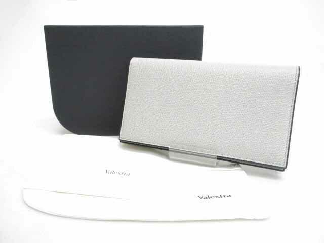 VALEXTRA ヴァレクストラ 未使用 14カード 2つ折り長財布 グレー ブランド古着ベクトル 中古181210 0180 メンズ