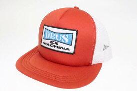 【中古】デウスエクスマキナ DEUS EX MACHINA One Trucker Cap ワッペン メッシュ トラッカー キャップ 帽子 レッド ホワイト ブランド古着ベクトル 中古●▲ 190717 0013 メンズ