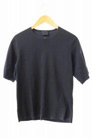 【中古】山内 ヤマウチ フリーカット 強撚 ポンチ 半袖 Tシャツ 18s55 3 ネイビー ブランド古着ベクトル 中古● 190814 0060 メンズ