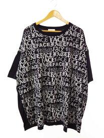 【中古】ファセッタズム FACETASM 14AW INK BIG TEE モノグラム ビッグ Tシャツ NO.JM-TEE-U03 F 黒ブラック ブランド古着ベクトル 中古190819 0025 メンズ