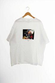 【中古】フリークスストア FREAKS STORE ×AUTOMOAI オートモアイ 19SS THE HOUSE プリント 半袖 Tシャツ XL 白 ホワイト ブランド古着ベクトル 中古 200318 0009 メンズ