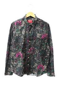 【中古】シュプリーム SUPREME 18AW Acid Floral Shirt アシッド フローラル 長袖シャツ M マルチカラー ブランド古着ベクトル 中古☆AA★191020 0080 メンズ