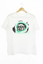【中古】アンダーカバー UNDERCOVER 00s LABORATORIES 初期タグ スカル プリント 半袖 Tシャツ 白 ホワイト ブランド古着ベクトル 中古● 200325 0020 メンズ