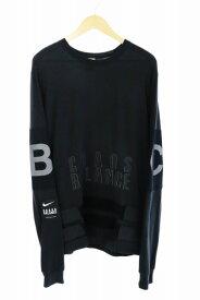 【中古】ナイキ NIKE ×UNDERCOVER アンダーカバー NRG LONG SLEEVE TOP ロゴ 長袖Tシャツ BV7130-010 L 黒 ブラック ブランド古着ベクトル 中古200310 0060 メンズ