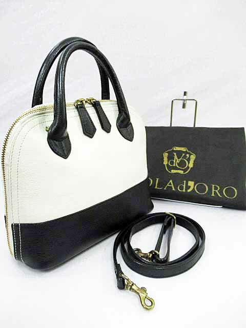 ヴィオラドーロ VIOLA d'ORO 2wayハンドバッグ 皮革 白ホワイト【ブランド古着ベクトル】【中古】170917★ レディース