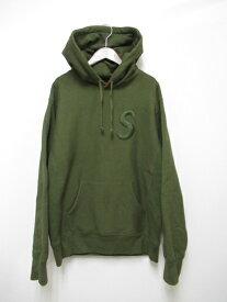 【中古】シュプリーム SUPREME 17AW Tonal S Logo Hooded Sweatshirt パーカー グリーン M【ブランド古着ベクトル】191107☆AA★ メンズ 【ベクトル 古着】 191107 プリマベーラ