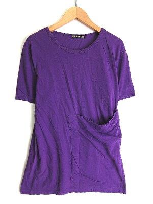【中古】フラボアFRAPBOISTシャツカットソーポケットクルーネック半袖1パープル紫春夏メンズ【ベクトル古着】180611ブランド古着ベクトルプレミアム店