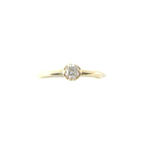 アガット agete リング 指輪 K18YG イエローゴールド ダイヤモンド 0.1ct レディース 【中古】【ベクトル 古着】 190321 ブランド古着ベクトルプレミアム店