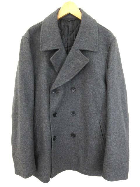 無印良品 良品計画 Pコート ジャケット 中綿 ウール グレー XL 0519 メンズ 【中古】【ベクトル 古着】 180519 ブランド古着ベクトルプレミアム店