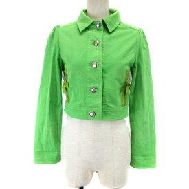 【中古】 エムズグレイシー M'S GRACY ジャケット ショート丈 40 グリーン 190515K IBS19 レディース 【ベクトル 古着】 190527