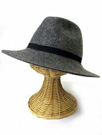 【中古】 スライ SLY 中折れ帽子 ハット 帽子 リボン ウール グレー F 190616IS05B レディース 【ベクトル 古着】 190616