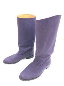 【中古】ワンダフルワールド WONDERFUL WORLD カネコイサオ カツラギ ブーツ M 紫 パープル キャンバス 靴 シューズ レディース 【ベクトル 古着】 200112 ベクトル