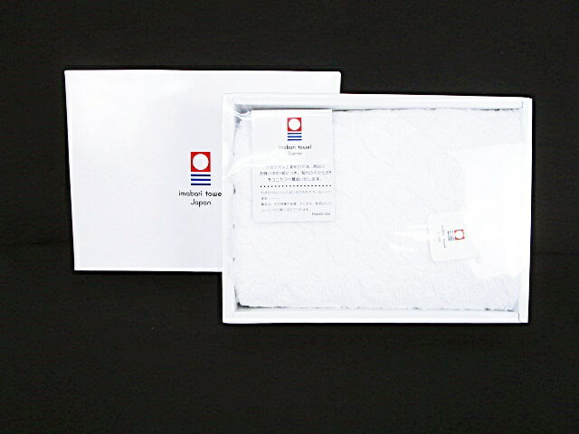 imabari towel Japan 今治タオル フェイスタオル 柄入り ホワイト 白 タグ付き 箱入り 【中古】【ベクトル 古着】 180630 ブランド古着ベクトルプレミアム店