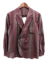 エムズブラック m's braque テーラードジャケット チェック 40 紫 /KH メンズ 【中古】【ベクトル 古着】 190112 ブランド古着ベクトルプレミアム店