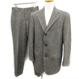 【中古】 ジェイプレス J.PRESS スーツ セットアップ 上下 ジャケット ベスト パンツ スリーピース YA6 グレー /EK メンズ 【ベクトル 古着】 190425