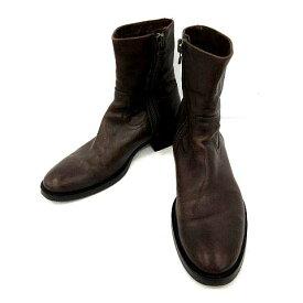 【中古】 ブッテロ BUTTERO ブーツ ショート レザー 39 茶 ブラウン /KH メンズ 【ベクトル 古着】 190508