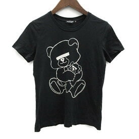【中古】 アンダーカバー UNDERCOVER JUN TAKAHASHI Tシャツ カットソー プリント 半袖 XS 黒 ブラック 白 /OG35 ●D メンズ 【ベクトル 古着】 190617