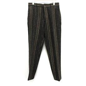 【中古】コムデギャルソンシャツ COMME des GARCONS SHIRT パンツ ストライプ ウール M 黒 ブラック /MF26 メンズ 【ベクトル 古着】 190826 ベクトルプレミアム店