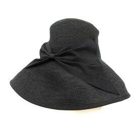 【中古】アシーナ ニューヨーク Athena New York ストローハット 麦わら帽子 ペーパー 黒 ブラック /KH レディース 【ベクトル 古着】 191001 ベクトルプレミアム店