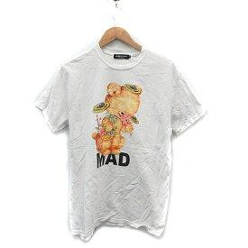 【中古】アンダーカバー UNDERCOVER Tシャツ カットソー クマ M 白 ホワイト /MR ●D メンズ 【ベクトル 古着】 191129 ベクトルプレミアム店