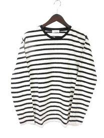 A-Clothing Tシャツ ボーダー 長袖 M 白 ホワイト メンズ 【中古】【ベクトル 古着】 171031 ブランド古着ベクトルプレミアム店