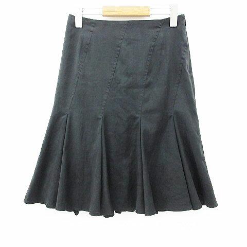 【中古】 未使用品 ボッシュ BOSCH スカート 膝丈 フレア 無地 ブラック 黒 38 レディース 【ベクトル 古着】 190507