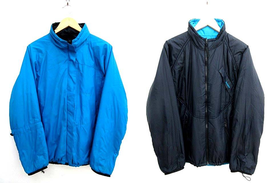 スナッグパック Snug pak AIRPAK JACKET 中綿ジャケット リバーシブル フード収納 青 黒 ブルー ブラック M JJJ 1107 メンズ 【中古】【ベクトル 古着】 171113 ブランド古着ベクトルプレミアム店