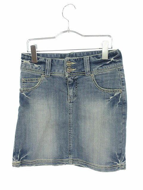 スプリット Split Jeans スカート デニム ミニ 25 青 ブルー aan レディース 【中古】【ベクトル 古着】 180820 ブランド古着ベクトルプレミアム店