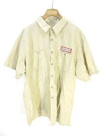 【中古】ユニバーサルオーバーオール UNIVERSAL OVERALL COMPANY UniEase ワークシャツ 半袖 3XL アイボリー US古着 メンズ 【ベクトル 古着】 190704 ベクトルプレミアム店