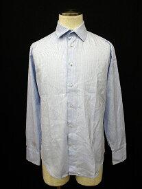 【中古】ザラマン ZARA MAN シャツ 長袖 ストライプ 40 青 ブルー メンズ 【ベクトル 古着】 170404 ブランド古着ベクトルプレミアム店