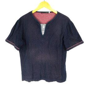 ノーリーズ Nolley's Tシャツ 半袖 コットン 紺 L メンズ 【中古】【ベクトル 古着】 180704 ベクトル店