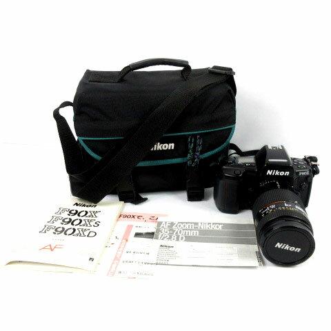 ニコン Nikon F90X フィルムカメラ AF NIKKOR 35-70mm 1:2.8D レンズ 黒 ブラック バッグ付き 【中古】【ベクトル 古着】 181121 ブランド古着ベクトルプレミアム店