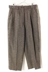 【中古】 レオナール LEONARD ファッション FASHION パンツ ラメ ウール 73-97 グレー /ry0412 レディース 【ベクトル 古着】 190412