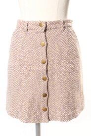 【中古】 リリーブラウン Lily Brown 16AW ヘリンボン 台形 スカート /☆y0513 レディース 【ベクトル 古着】 190513