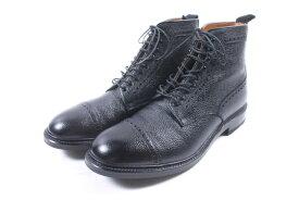 【中古】 シェットランドフォックス SHETLANDFOX ブーツ ショート 52F ハンプトン 8 黒 ブラック /yy0522 メンズ 【ベクトル 古着】 190522
