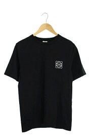 【中古】ロエベ LOEWE Tシャツ ロゴ 刺繍 半袖 XS 黒 /YS ■OS メンズ 【ベクトル 古着】 191009 ベクトルプレミアム店