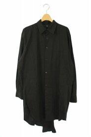【中古】ワイズ Y's YOHJI YAMAMOTO シャツ 長袖 ロング 胸ポケット 1 黒 /AA ■OS メンズ 【ベクトル 古着】 191120 ベクトルプレミアム店