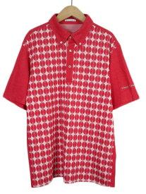 【中古】ヒールクリーク Heal Creek ゴルフ GOLF ポロシャツ ボタンダウン ドット 半袖 リネン混 50 赤 レッド メンズ 【ベクトル 古着】 200716 ベクトルプレミアム店
