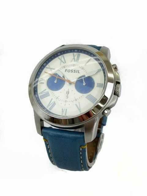 フォッシル FOSSIL 腕時計 クロノ GRANT FS4920 青 ブルー シルバー ジャンク品 /ms メンズ 【中古】【ベクトル 古着】 180928 ブランド古着ベクトルプレミアム店