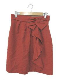 ストロベリーフィールズ STRAWBERRY-FIELDS スカート 台形 ミニ リボン 赤 レッド /AS25 レディース 【中古】【ベクトル 古着】 180629 ブランド古着ベクトルプレミアム店
