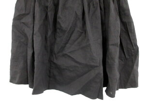 セオリーtheoryスカートギャザーひざ丈麻リネンS黒ブラック/RK17レディース【中古】【ベクトル古着】180803ブランド古着ベクトルプレミアム店