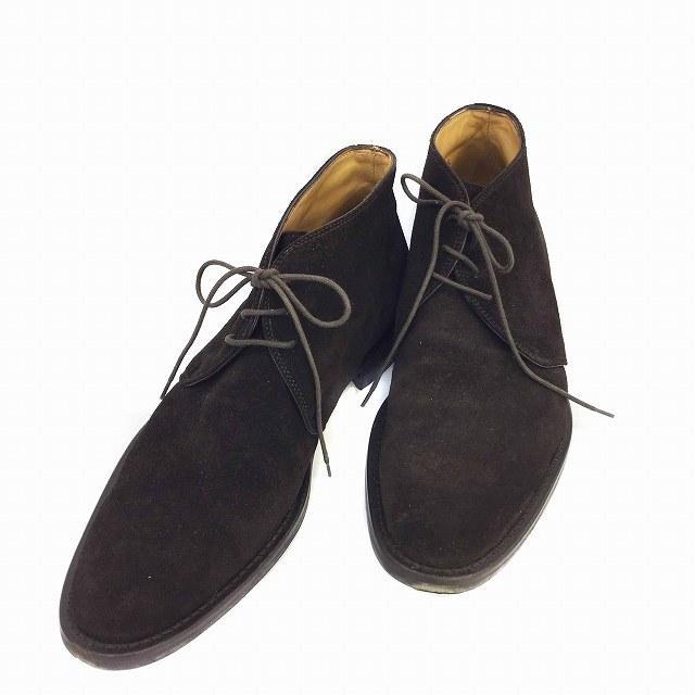 バーニーズニューヨーク BARNEYS NEW YORK ブーツ チャッカ スエード 41.5 茶 ブラウン メンズ 【中古】【ベクトル 古着】 181006 ブランド古着ベクトルプレミアム店