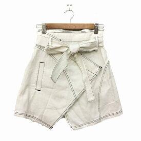 【中古】 スライ SLY スカート ラップ ミニ 1 白 ホワイト レディース 【ベクトル 古着】 190402