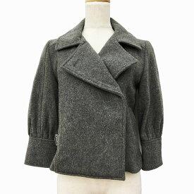 【中古】 バナーバレット Banner Barrett コート ジャケット ショート ダブル 七分袖 S グレー レディース 【ベクトル 古着】 190614
