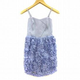 【中古】 リリーブラウン Lily Brown ワンピース ドレス ミニ キャミソール 0 青 ブルー レディース 【ベクトル 古着】 190620